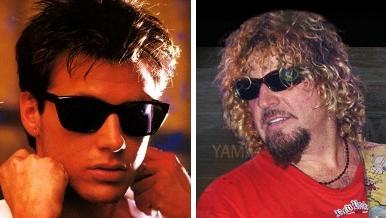corey hart and sammy hagar wearing sunglasses, sorta looking cool