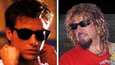 corey hart and sammy hagar wearing sunglasses, sorta looking cool