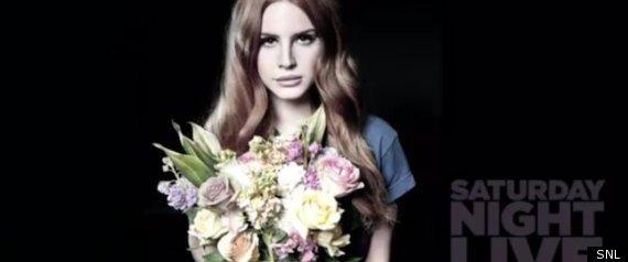 Lana Del Rey's SNL still frame