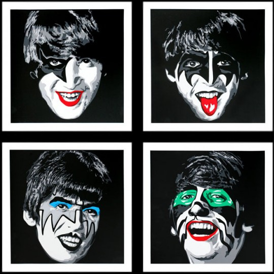 beatles with kiss makeup