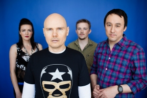 The Smashing Pumpkins in 2012: Nicole Fiorentino, Billy Corgan, Mike Byrne, and Jeff Schroeder