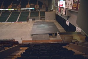 This will be my seat on Friday. Please God, no big speakers or banners ...