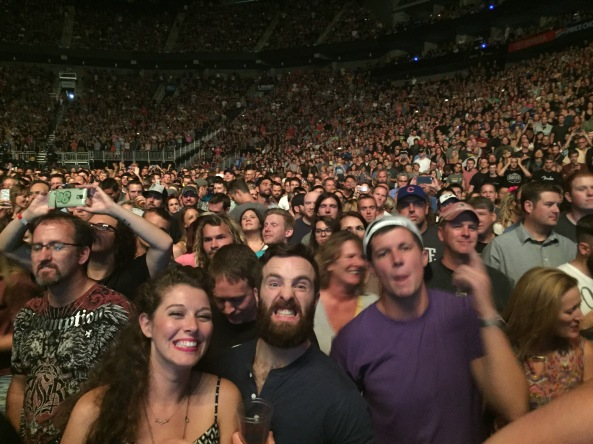 All of our new friends at the Foo Fighters show in Kansas City.